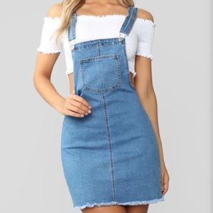 Fashionnova Denim Overall Dress